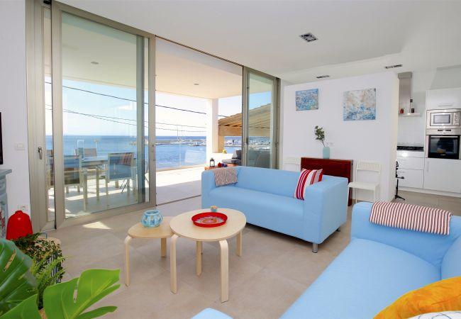 Apartamento en S´Estanyol - Familiar apartamento frente al mar